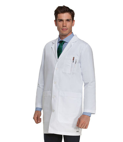 "Mens 6 Pocket Lab Coat 35""  0917"