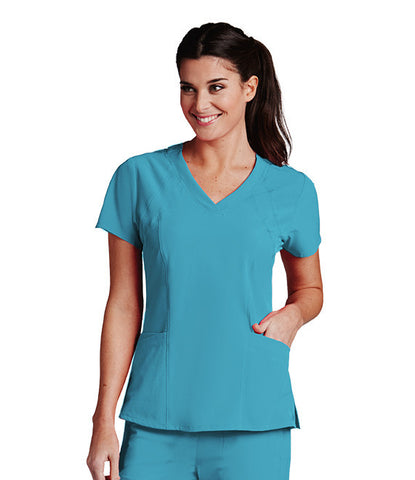 5 Pocket V Neck Women's Scrub Top 5106