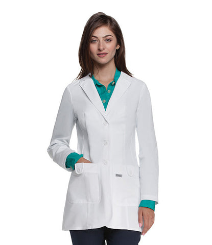"2 Pocket Women's Lab Coat 28"" 4412"