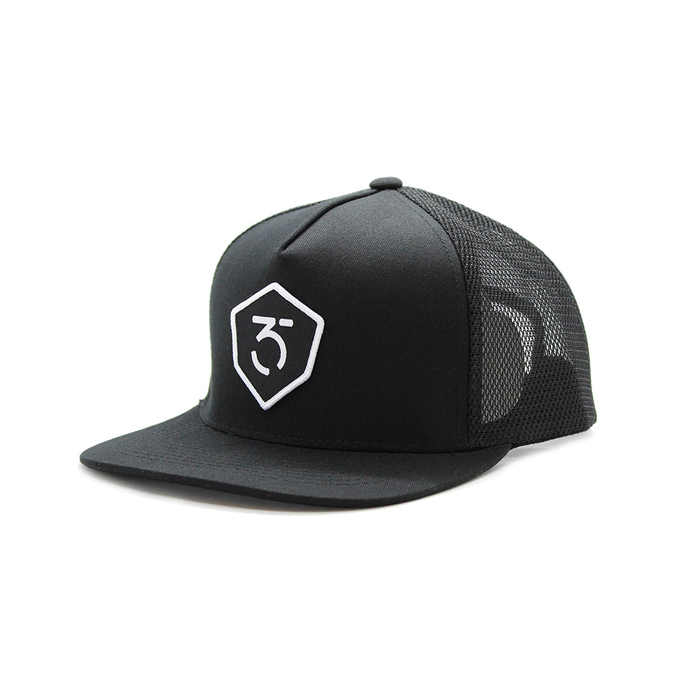 365MX Icon Trucker Snapback – Black
