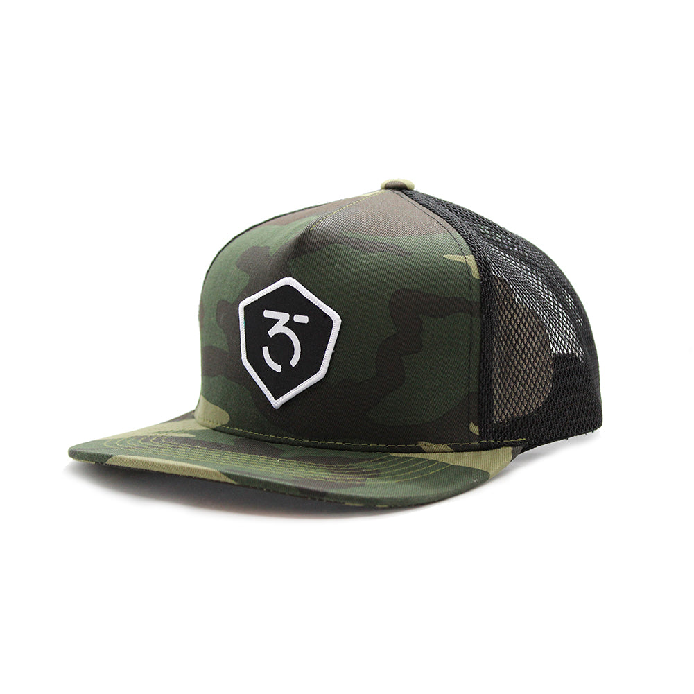 365MX Icon Trucker Snapback – Camo