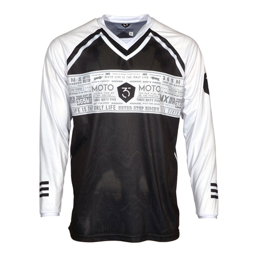 365MX ONYX Race Jersey - Black/White