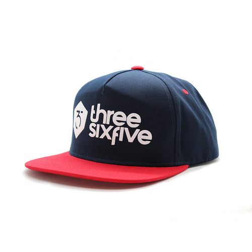 365MX Logo Snapback – Navy/Red