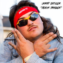 "Larry Enticer ""SEND IT"" Mullet Wig Headband"