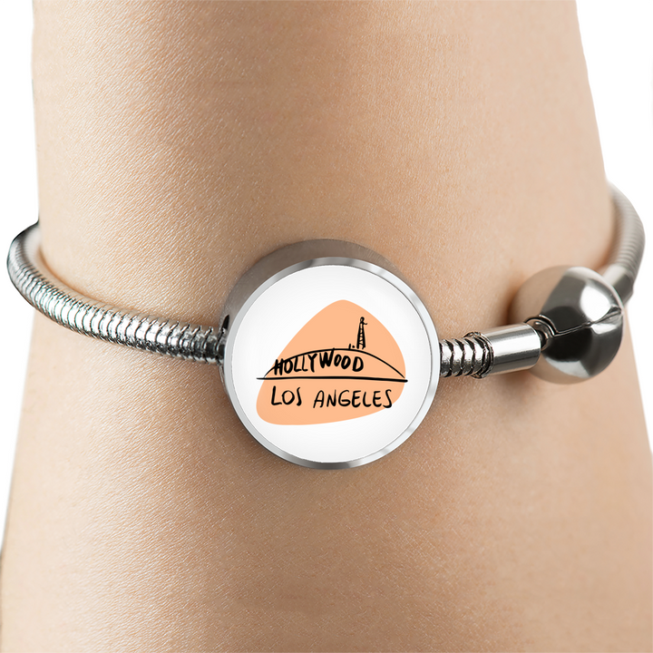 Circle charm - City Edition (LOS ANGELES) - Custom bracelet design