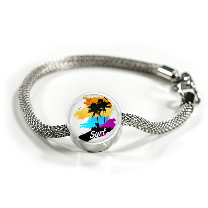 Circle Charm - Surf - Custom bracelet design