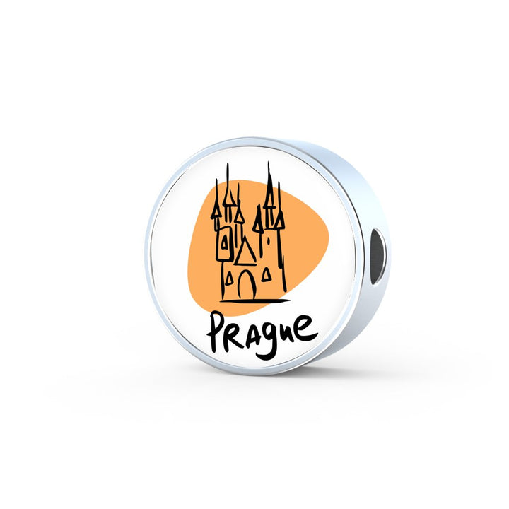 Circle Photo charm - City Edition (PRAGUE) - Custom bracelet design