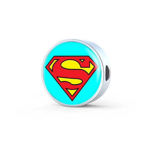 Circle photo charm - Movie Edition (SUPERMAN) - Custom bracelet design
