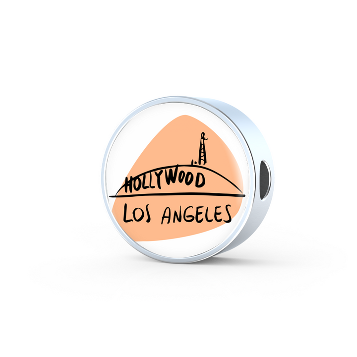 Circle Photo charm - City Edition (LOS ANGELES) - Custom bracelet design