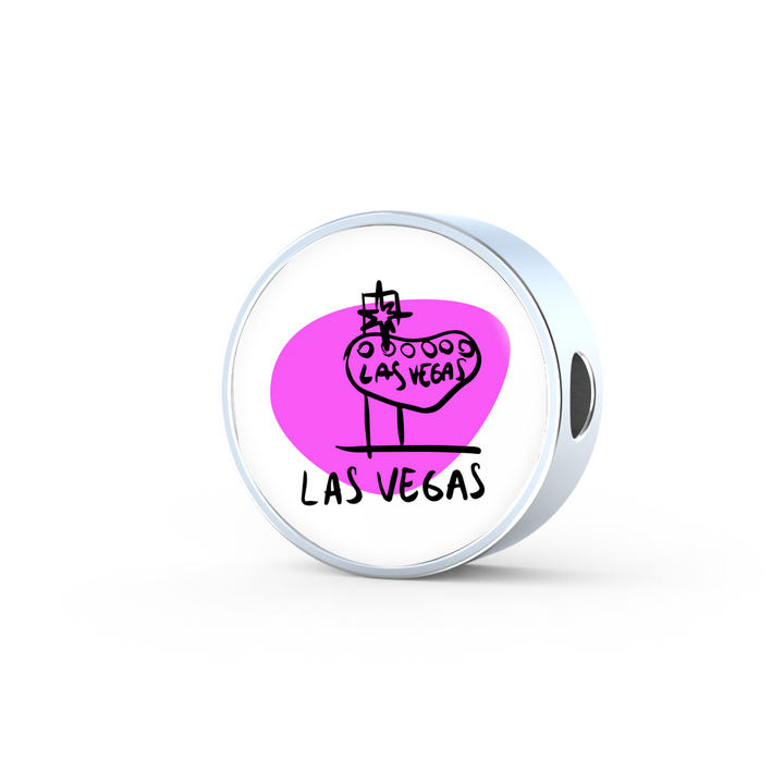 Circle Photo charm - City Edition (LAS VEGAS) - Custom bracelet design
