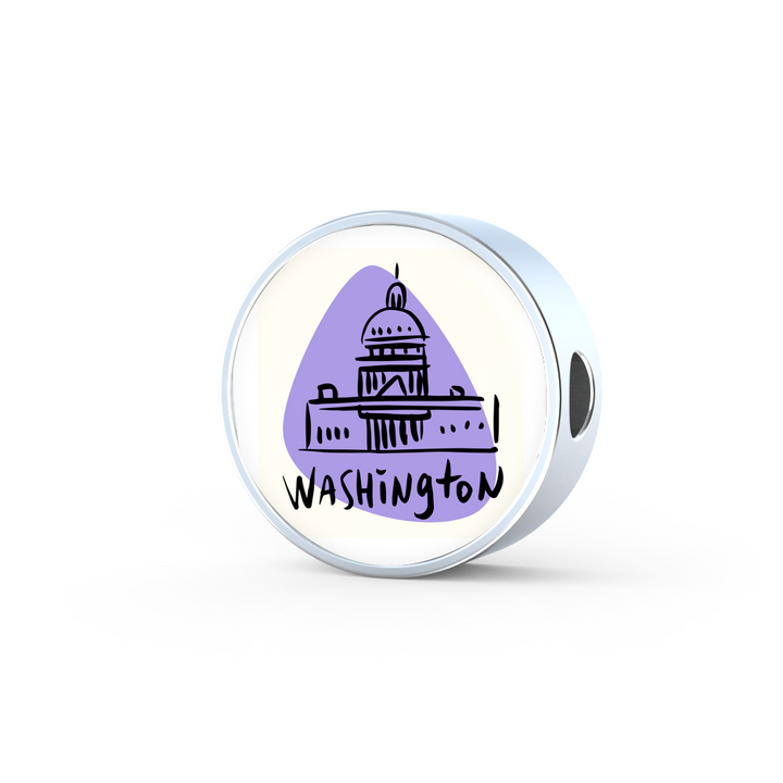 Circle Photo charm - City Edition (WASHINGTON) - Custom bracelet design