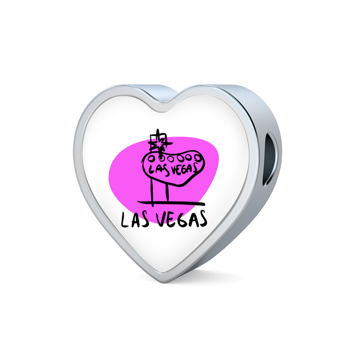 Heart Photo charm - City Edition (LAS VEGAS) - Custom bracelet design