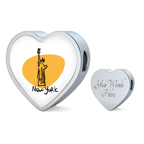 Heart Photo charm - City Edition (NEW YORK) - Custom bracelet design