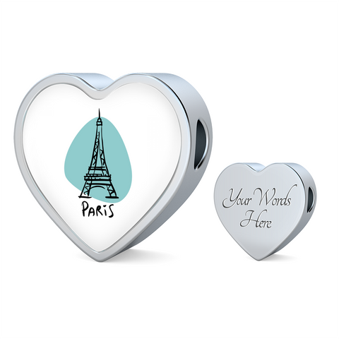 Heart Photo charm - City Edition (PARIS) - Custom bracelet design