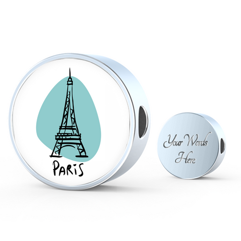 Circle Photo charm - City Edition (PARIS) - Custom bracelet design