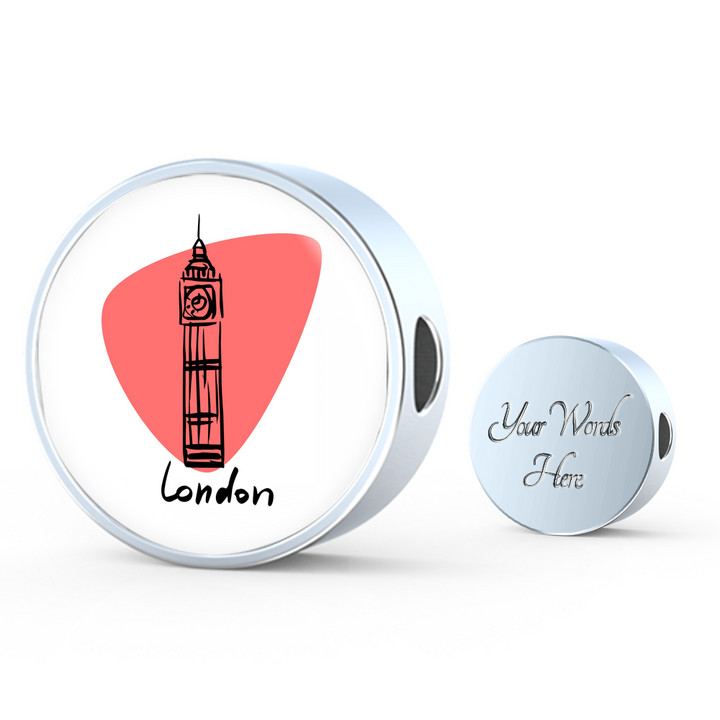 Circle Photo charm - City Edition (LONDON) - Custom bracelet design