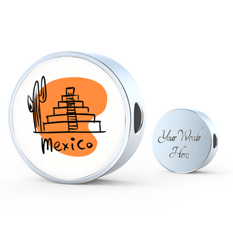 Circle Photo charm - City Edition (MEXICO) - Custom bracelet design