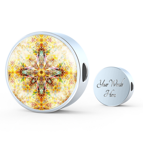 Circle Photo Charm (ART EDITION) - Custom bracelet design