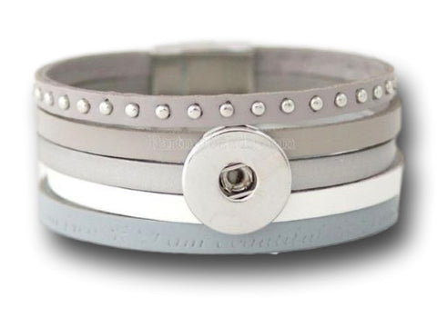 Interchangeable snap bracelet for 1 snap button - Custom bracelet design