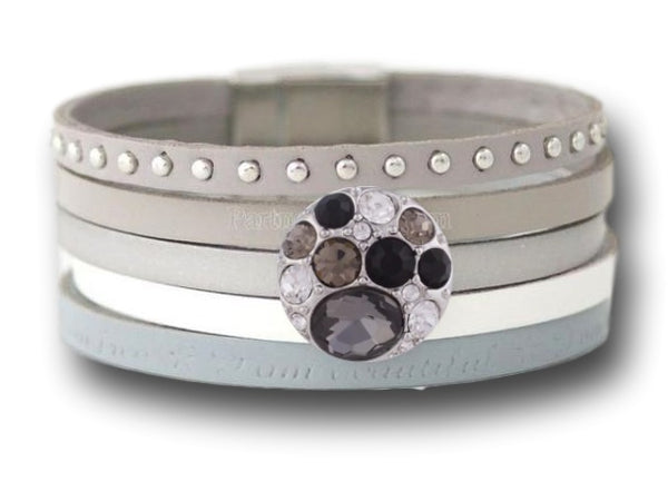 Interchangeable snap button bracelet - Custom bracelet design