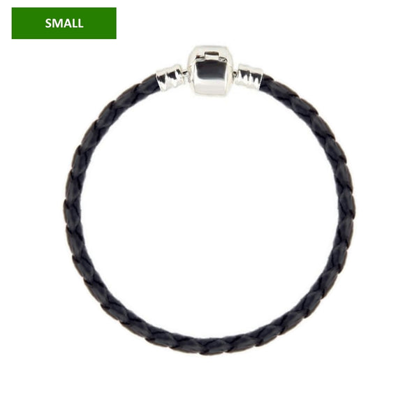 Leather bracelet for Pandora style large-hole beads and charms (small) - Custom bracelet design
