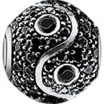 Silver plated Pandora style large-hole bead for bracelets - Custom bracelet design