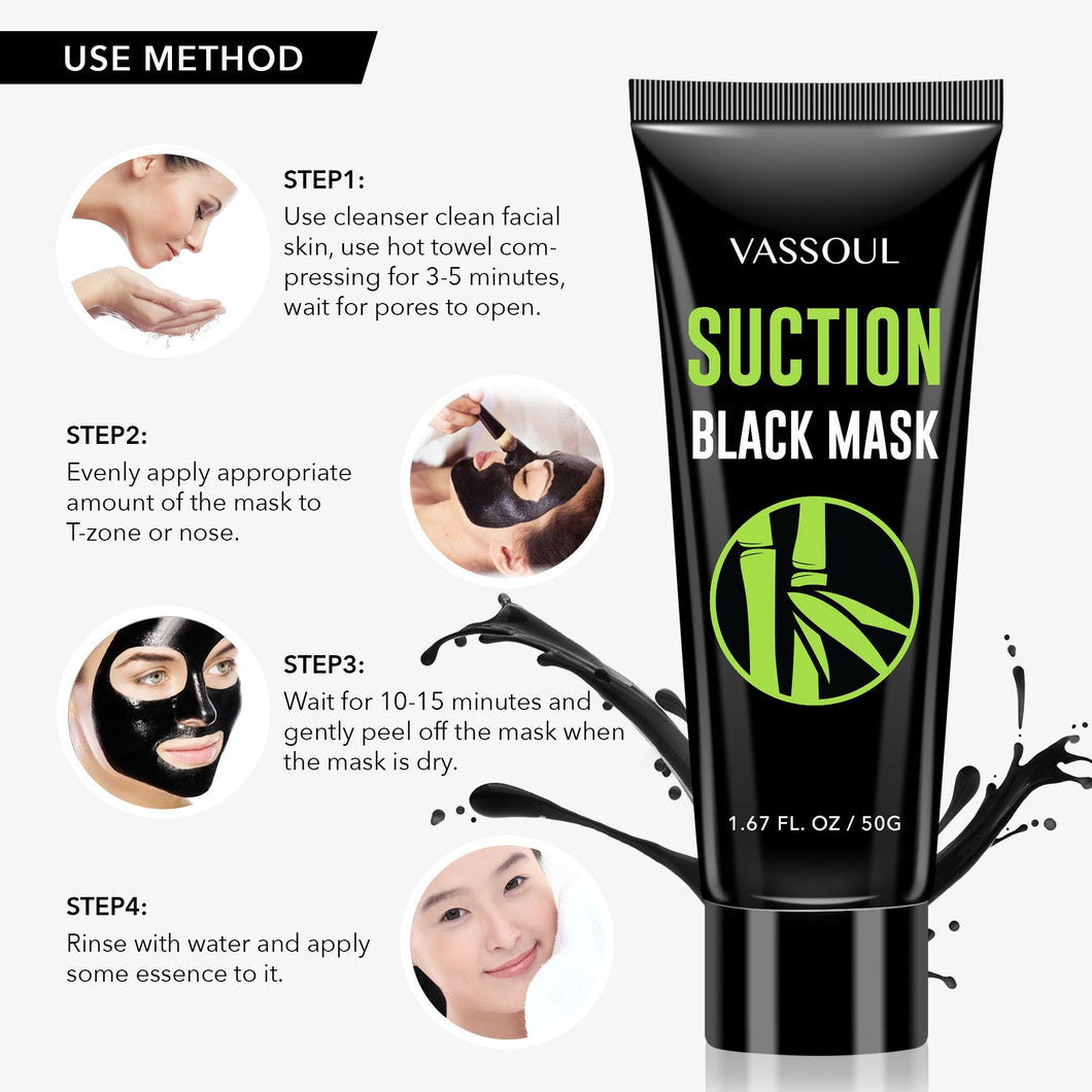 Deep Cleansing Peel Off Blackhead Mask, Bamboo Activated Charcoal
