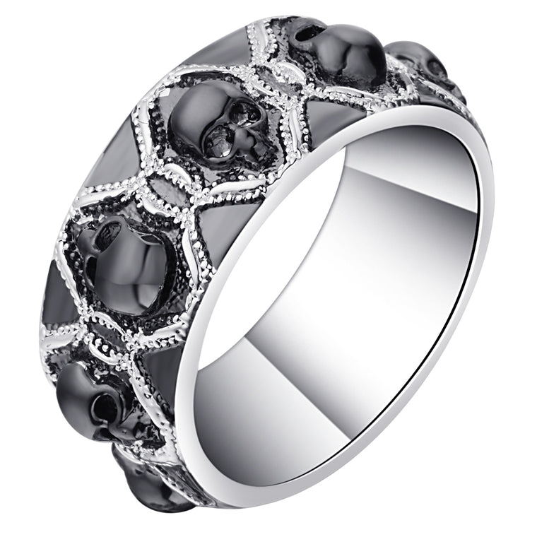 collections product image rings silver skull darksoulfashion evil ring