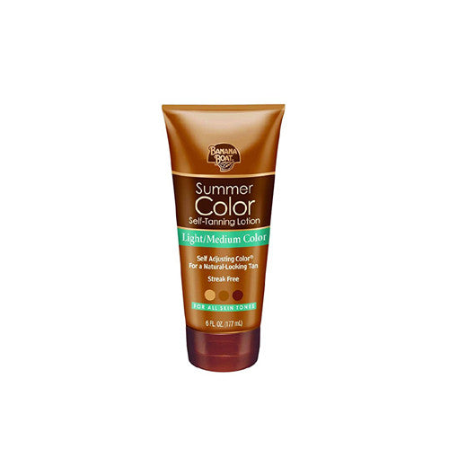 Banana Boat Self-Tanning Lotion, Light/Medium Summer Color for All Skin Tones - 6 Ounce