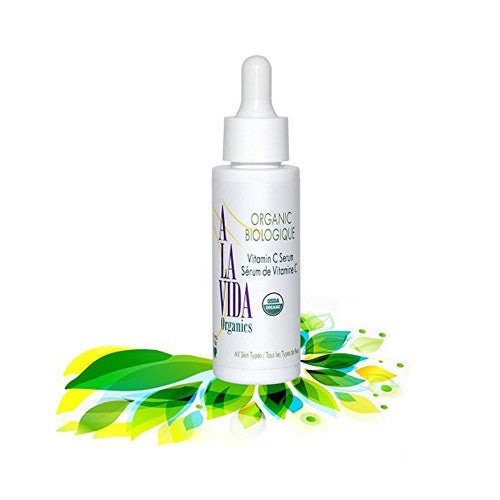 Vitamin C Serum, USDA Certified Organic. Most Powerful Antioxidant, Collagen Booster, Anti Aging, Sun Spot Removal, Anti Wrinkle. Excellent for Normal and Sensitive Skin - 30ml/1oz