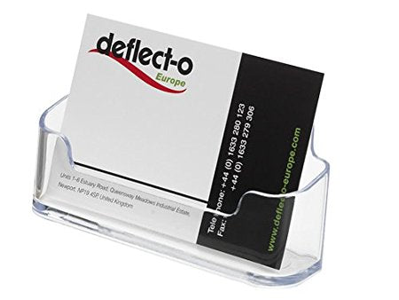 "Deflecto Business Card Holders Single Compartment, 3-3/4"" W x 1-7/8"" H x 1-1/2"" D, Clear (70101)"