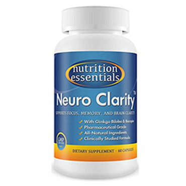 Brain Function Booster Nootropic - Super Ginkgo Biloba complex with St John's Wort & Bacopin - Supports Mental clarity, Focus, Memory & more - 100% Moneyback Guarantee (1 Mo. Supply/1 Bottle)