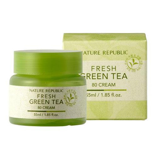 Nature Republic Fresh Green Tea 80 Cream 55ml