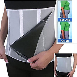 Iebeauty®New Adjustable Black Sauna Slimming Belt Burn Belly Fat Gym Body 5 Zippers Wrap