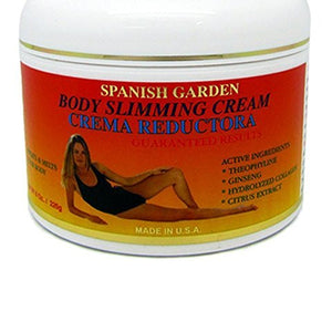 Body Slimming Cream By Spanish Garden 8 Oz Sweats & Melts Excessive Fat of Your Body