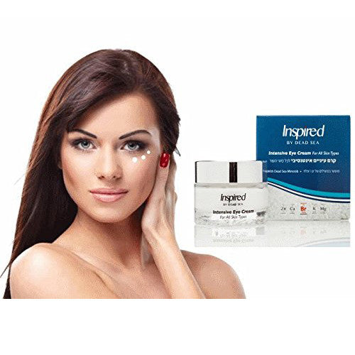 Inspired by Dead Sea Intensive Eye Contour Premier Anti Aging Cream Hyaluronic Acid Peptides Diminishes Dark Circles Bags Puffiness Crows Feet Wrinkles Sagging Skin Under Eye Salon Size 50ml/1.7fl.oz