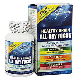 Applied Nutrition - Healthy Brain All Day Focus - 50 Tablets