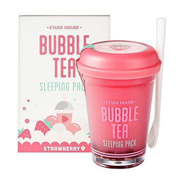 Etude house bubble tea sleeping pack (100g) (Strawberry Tea)