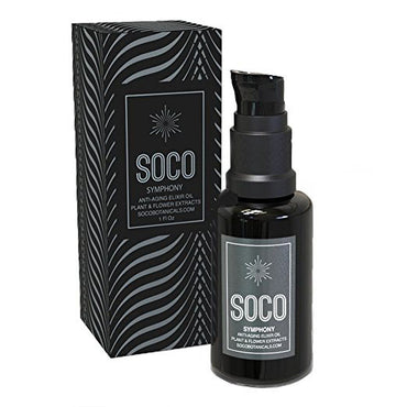 Organic Anti Aging Oil Serum - Exquisite Essential Oil Blend for Face with Sea Buckthorn, Neroli and CoQ10 - SOCO Botanicals