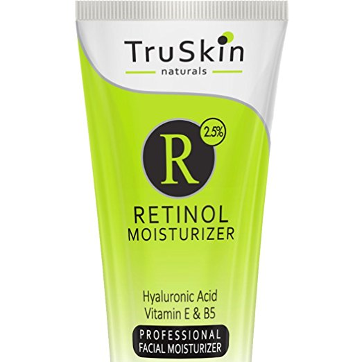 BEST Organic RETINOL Face Cream MOISTURIZER to Reduce Wrinkles - Vitamin A, E, B5, Hyaluronic Acid, Jojoba Oil, Green Tea - Best with TruSkin Naturals Vitamin C Anti-Aging Skincare Serum