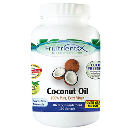 Emerald Laboratories (Fruitrients) - Coconut Oil - 100% Pure Extra Virgin Coconut Oil - Promotes Cholesterol Health, Weight Loss, Immune Support, & Brain Health - 120 Softgels