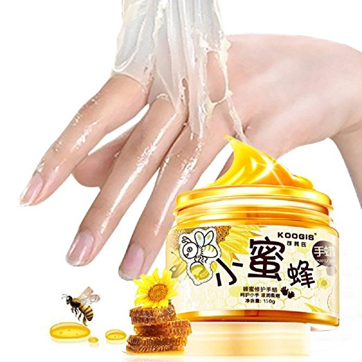 XY Fancy Hands Care Paraffin Milk & Honey Peel Off Hand Wax Mask Exfoliate Hydrating Exfoliating Nourish Whitening Hand Mask Skin Care 150g