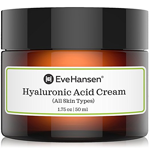 Hyaluronic Acid Cream: Hydrating, Moisturizing and Anti Aging Moisturizer Skin Cream for ALL Skin Types. Anti wrinkle, Skin Plumper, Youthful Skin Faster. Natural and Organic ingredients. Vegan.