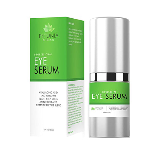 Revitalize Eye Serum | Anti-Aging Treatment for Loss of Elasticity, Puffiness and Dark Circles | Intensive Hydrating Repair for Dry Skin | Helps Diminish Fine Lines & Wrinkles | 0.78 fl. oz.