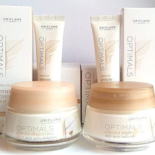 ORIFLAME Optimals - Even Out Day Cream + Night Cream + 2 x Serum Concentrate