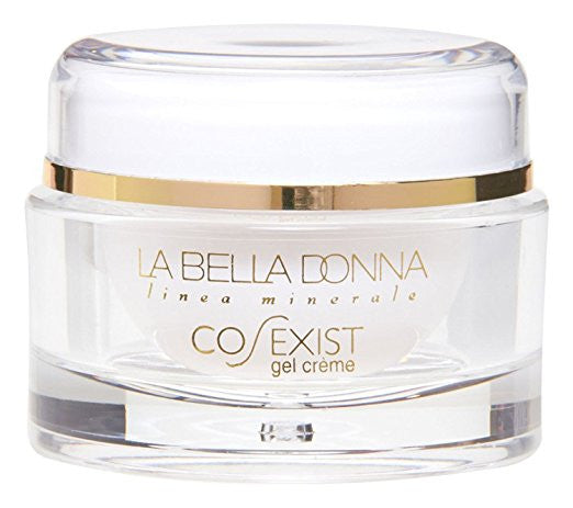 La Bella Donna CO-EXIST Anti-Aging Face Gel Creme (2 OZ.) - Aqueous Extract of Green Tea, Sodium Hyaluronate, Pentapetide-3, Rentinol. Day and Night Moisturizing Gel Cream