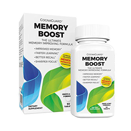 CognaGuard Memory Boost (90 Count)- Brain Booster Memory Pill for Sharper Focus, Better Recall, Faster Learning, Improved Memory. Feel Younger and Experience Better Cognitive Function