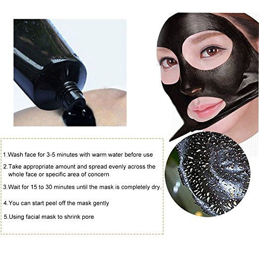 Blackhead Remover Mask,Cleansing Blackhead Mud Face Mask,Peel off Strip Mask For Face Nose Acne Treatment Acne Oil Control(60g)