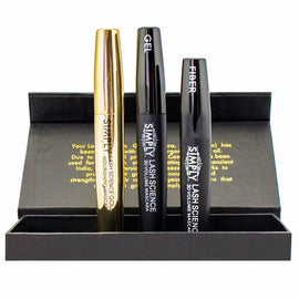 3D Fiber Lash Mascara with Eyelash Enhancing Serum - Organic Castor Oil. Waterproof, Hypoallergenic, Last All Day. Lash Science Gold