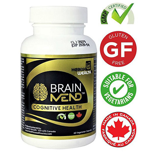 BRAINMEND™ Premium Brain Health & Memory Supplement, Best Herbal Nootropic with Bacopa, Ashwagandha, Lion's Mane - For Brain & Cognitive Function, Memory Improvement & Enhancement (Licensed Product)